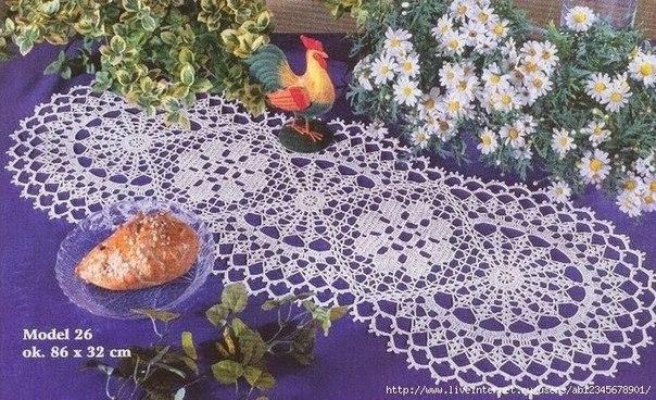 Delicadezas en crochet gabriela camino de mesa for Camino de mesa elegante en crochet