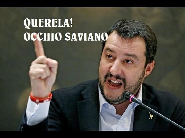 MATTEO SALVINI, ecco la querela a Roberto Saviano: tutti gli insulti RICEVUTI DALLO SCRITTORE