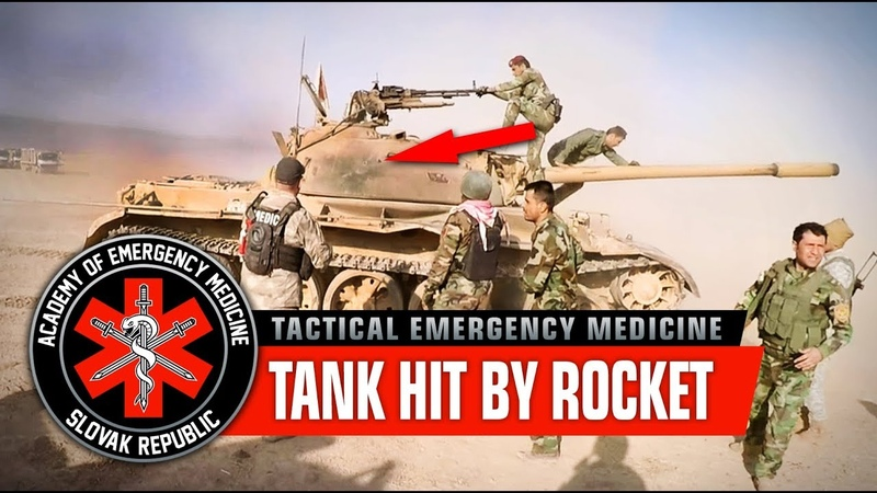 Tank hit by RPG, wounded crew. Coming in hot! War in Iraq, Mosul offensive (Graphic content)