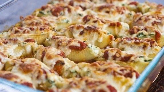 «Ракушки, фаршированные шпинатом и сыром»