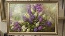 Сирень. Быстрый этюд. Lilac. Etude. Как нарисовать сирень. How to draw lilacs. Урок живописи