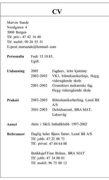 cv eksempel norsk cv eksempel norsk stein p 229 stein niv 229 b1  u0443 u0440 u043e u043a u0438 7 9