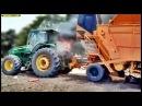 Trator pegando fogo - Caminhão Pipa tentando apagar || John Deere!