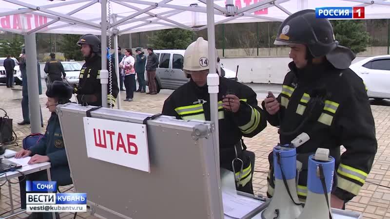 Спланированное происшествие_ учения провели оперативные и коммунальные службы в Сочи