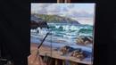 How to Paint a Coastal Scene Painting Norah Head on the Central Coast Australia