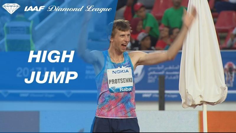 Andriy Protsenko jumps 2.29 to win the Mens High Jump - IAAF Diamond League Rabat 2017