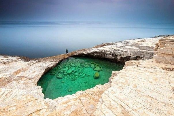 Природный бассейн, Тасос, Греция