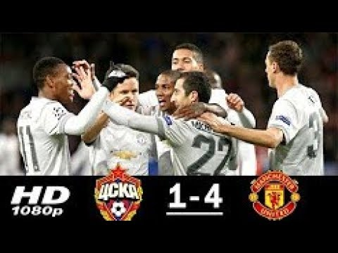 Manchester United vs CSKA Moscow 4-1 Highlights Goals - 27 Sep 2017