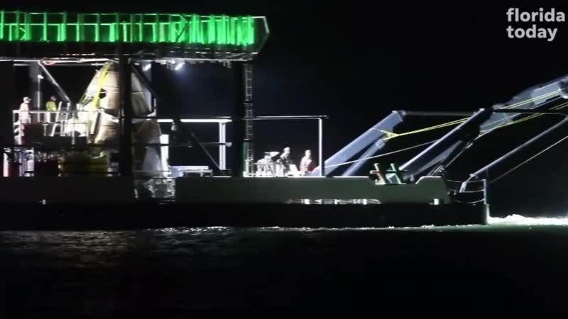Прибытие Crew Dargon в порт Канаверал 10 03 19