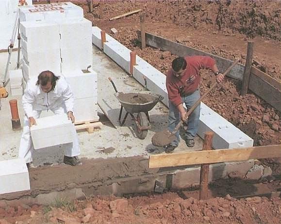 как положить блоки на фундамент самостоятельно
