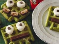 Matcha Monster Waffles