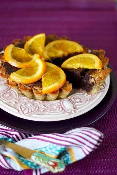 """""""Веганский шоколадно-апельсиновый кекс с кармелизированными апельсинами"""" (без сливочного масла и яиц)"""