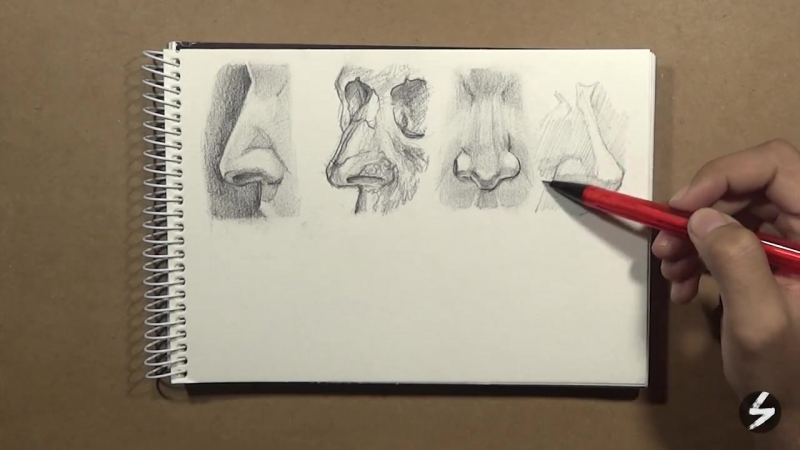 [Sketch Bolt] EP03 Drawing Nose (From Different Angles) (Time-Lapse)