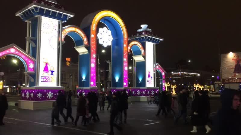 Новогодняя площадь в Туле