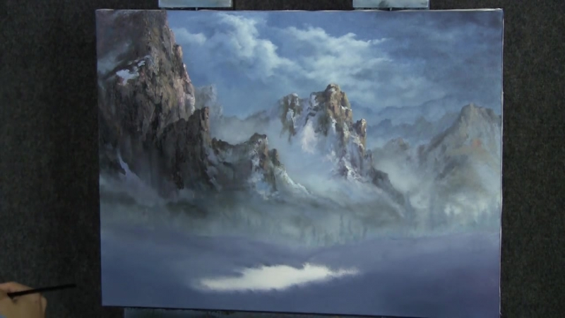 Snowy Mountain - Paint with Kevin Hill