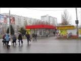 (Харьков, Геровев труда) пешеходный переход с препятствием скрытая камера crosswalk