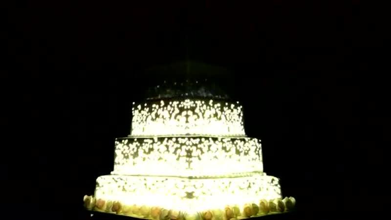Wedding Cake Laser-Light-Projection - Saudi Arabia -Royal Cake - Call 0599107410 for more details.mp4