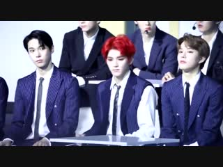 [fancam] 181220 Taeyong, Doyoung & Jungwoo (NCT) Reaction to Red Velvet @ KPMA 2018