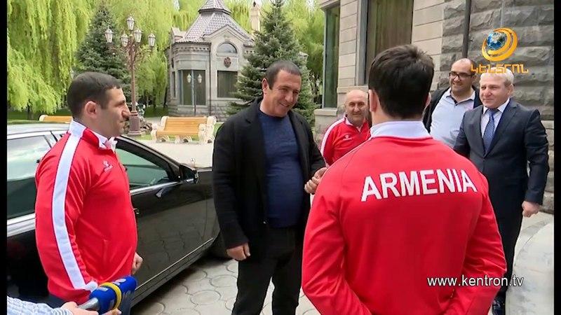 Гагик Царукян встретился с новоиспеченным чемпионом Европы по дзюдо Фердинандом Карапетяном
