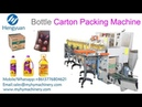 Automatic carton erector packing sealing machine line for edible oil bottle carton packer