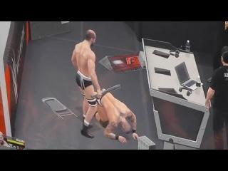 WWE 2K15 Randy Orton vs Cesaro No Holds Barred Match ( Off Screen )