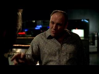 (Клан Сопрано S04E09_06) Сифаретто пришёл к Тони отдать долю. Поли клянется ёбнуть Ральфа, если раздобудет доказательства.