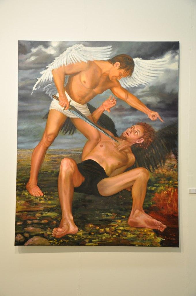 Союз художников Эстонии  Нелли Дрель (р. 1979)  Святой Михаил. 2010  Холст, масло