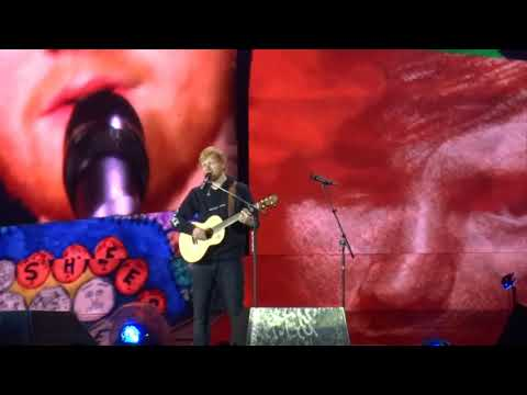 Ed Sheeran One Life first public performance @ Letiště Letňany Prague 08 07 19