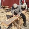 Работа норвежскими стружками-настругами (pjål)