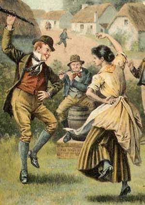 жига была парным танцем.