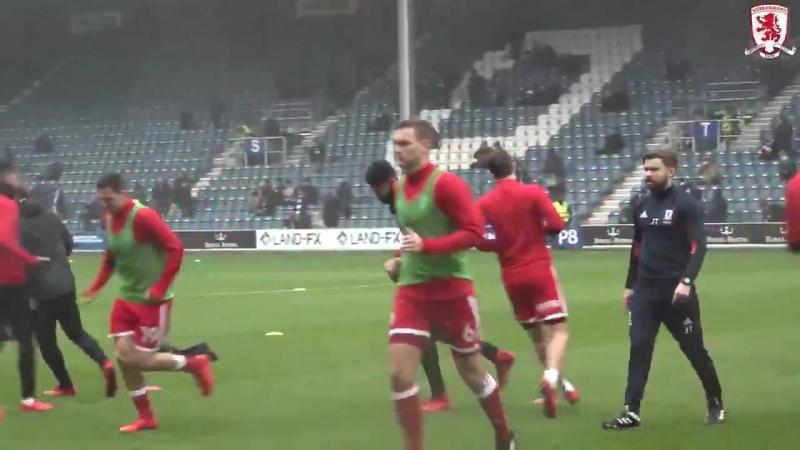 Boro warm-up v QPR