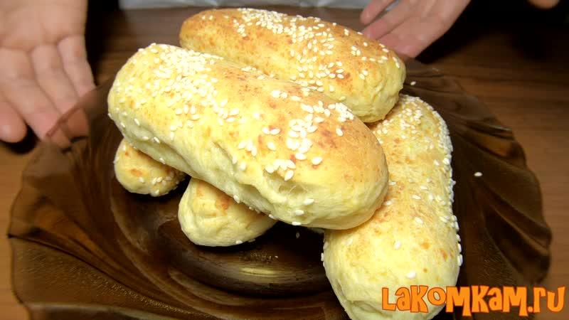 Хлебные палочки с сыром и кунжутом