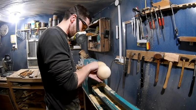 Как выточить булаву на токарном без токарного патрона