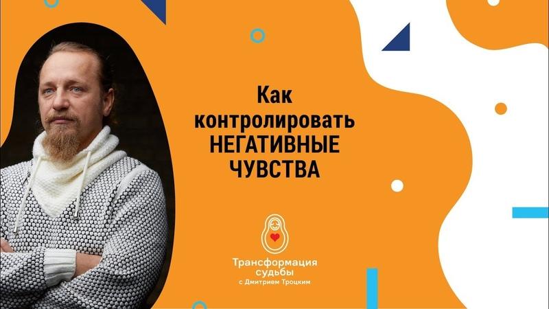Как контролировать негативные чувства Дмитрий Троцкий