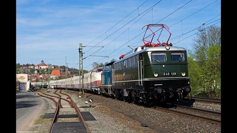 Güterzüge auf der Frankenwaldbahn - VT 18.16 E 40, TXL, Raildox, MEG uvm.