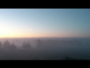 Раннее утро. Туман. Ни чего не видно, но очень хорошо слышно пение птиц. Очень красиво Рассвет Туман КлубМамаДома