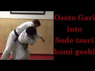 Duck under Osoto gari into Sode tsuri komi goshi by Shintaro Higashi