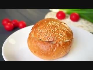 БЫСТРЫЙ ЗАВТРАК. Рецепт запеченного бутерброда.