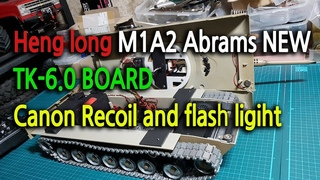 New heng long M1A2 ABRAMS TK-6.0 Canon recoil & flash light mod