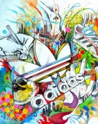 Картинки для телефона Мультфильмы 240x400 Adidas Pencil.