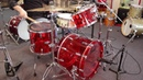 Pearl Crystal Beat Drum Set Red 22 10 12 14