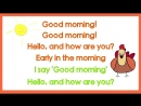 Good Morning Song for Kids (with lyrics) - The Singing Walrus
