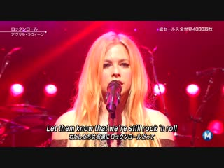 Avril Lavigne - Rock N Roll [Music Station] (FullHD 1080p)