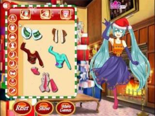 Вокалоиды игра одевалка Мику Хатсуне и подружек
