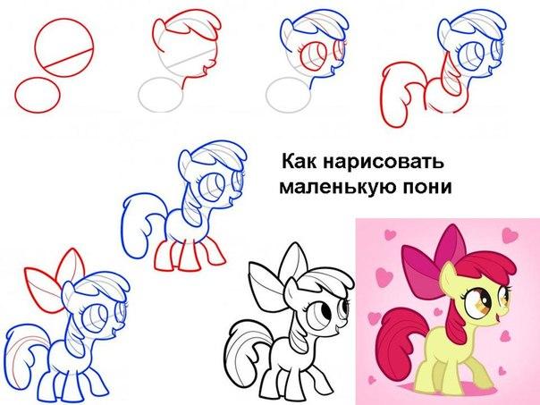 Как нарисовать Литл Пони (Рарити, Радугу, Пинки пай и других)