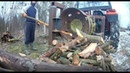 Fastest Automatic Firewood Processing Machine Homemade Modern Wood Cutting Chainsaw Machines