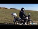 Сын познаёт первые азы езды на мотоцикле, а что может быть лучше поля,сама когда то на таком училась
