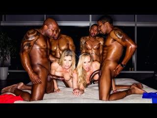 Cory chase, brandi love bbc club (milf, big tits, hardcore, blowjob, group sex, standing doggystyle)