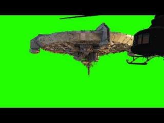 District 9 UFO Alien Spaceship - free green screen