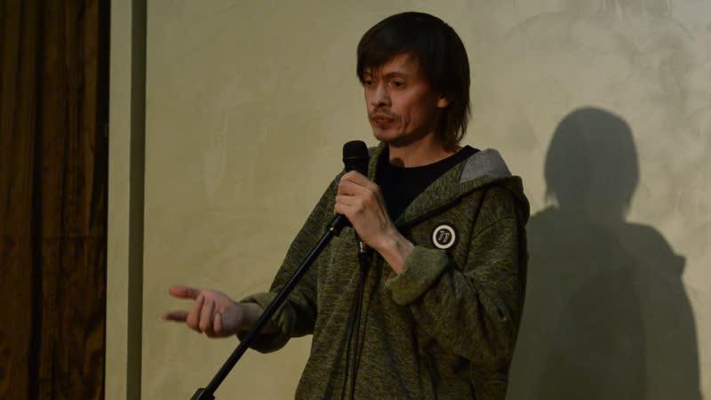 DSC 0015 Живи сюда вечер в Пермском бард кафе 26 04 19 Антон Бахарев Чернёнок